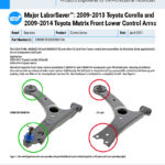 MXF-21-062-02-01-E-Major-LaborSaver™-2009-2013-Toyota-Corolla-and-2009-2014-Toyota-Matrix-Front-Lower-Control-Arms