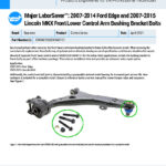 MXF-21-065-02-01-E-Major-LaborSaver-2007-2014-Ford-Edge-and-2007-2015-Lincoln-MKX-Front-Lower-Control-Arm-Bushing-Bracket-Bolts