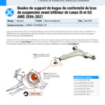 2021-2006-Lexus-IS-and-GS-AWD-Front-Lower-Control-Arm-Compliance-Bushing-Bracket-Bolt-FR