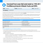 Oversized-Front-Lower-Ball-Joint-Install-on-1995-2011-FordMercuryLincoln-Mazda-Trucks-and-SUVs-EN