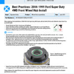 Best-Practices-2004-1999-Ford-Super-Duty-4WD-Front-Wheel-Hub-Install-EN
