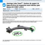 Major-Labor-Saver-2015-2007-Mazda-CX-9-Front-Lower-Control-Arm-Bushing-Bracket-Bolts-FR